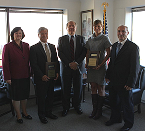 Special Inspector General John F. Sopko, center, with the CIGIE award winners from SIGAR