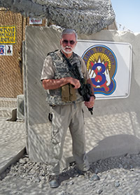 SIGAR special agent at a forward operating base.