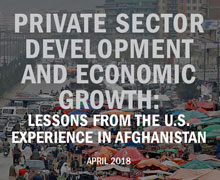 SIGAR released its third lessons learned report examining the U.S. government's support to private sector development in Afghanistan since 2001.